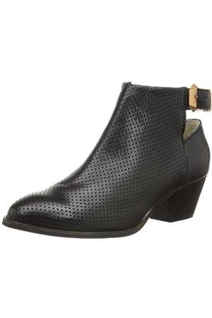 Pieces SIA Leather Boot Black 17053975 Damen Stiefel, (Black)