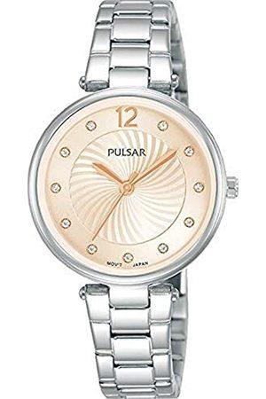 Pulsar Damen Analog Quarz Uhr mit Metall Armband PH8491X1