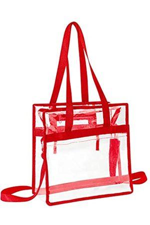 Bags for Less Clear Bag Stadion zugelassene Tragetasche mit Griffen, Doppel-Reißverschlüssen, verstellbare Schultergurte, transparent, für Herren