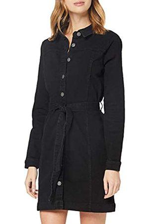 PIECES Damen PCBILL LS TIE Belt Dress-VI BC Kleid, Black
