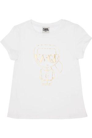 KARL LAGERFELD T-shirt Aus Bio-baumwollmischung Mit Karl-druck