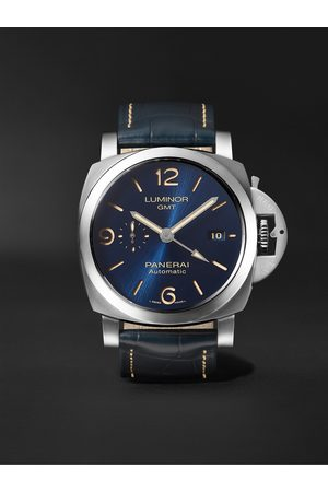 Panerai Luminor GMT Automatic 44mm Stainless Steel and Alligator Watch, Ref. No. PAM01033
