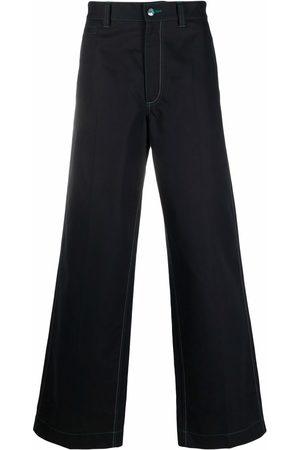 Marni Herren Weite Hosen - Hose mit Kontrastnähten