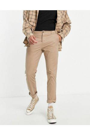 ASOS Schmale Chinohose in Stone-Steingrau