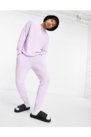 adidas – Gerippte Baumwoll-Jogginghose in Marineblau, Kombiteil