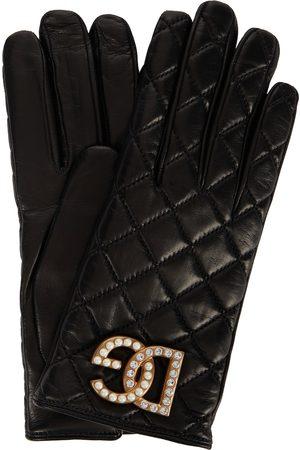 Dolce & Gabbana Gesteppte Handschuhe aus Leder