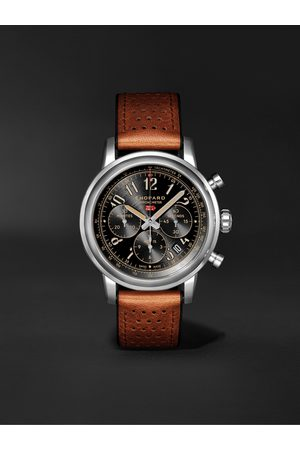 Chopard Herren Uhren - Mille Miglia Classic Chronograph Limited Edition Automatic 44mm Stainless Steel and Leather Watch, Ref. No. 168589-3034