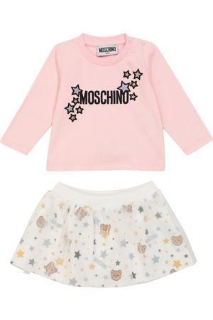 Moschino Kids Baby Besticktes Set aus Top und Rock