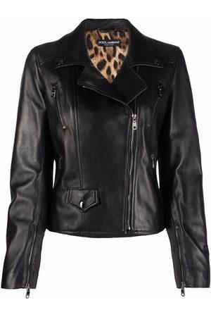 Dolce & Gabbana Bikerjacke aus Leder