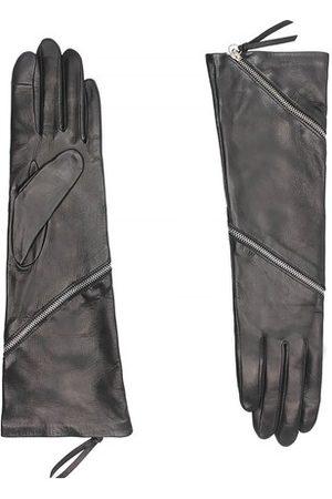 Agnelle Damen Handschuhe - Zipper Taktil mit Seidenfutter
