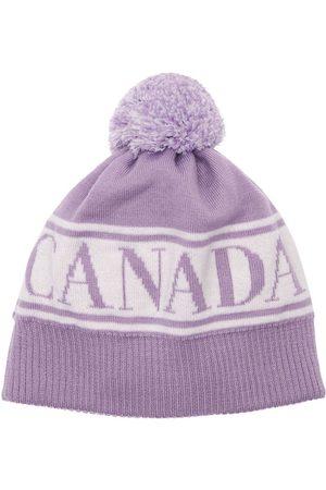 Canada Goose Mädchen Hüte - Logo Wool Beanie W/ Pompom