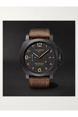 Panerai Herren Uhren - Luminor 1950 3 Days GMT Automatic 44mm Ceramic and Leather Watch, Ref. No. PAM01441