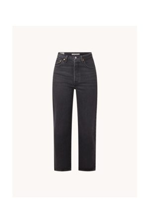 Levi's High Waist Straight Fit Cropped Jeans