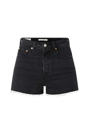 Levi's Ribcage Slim Fit Jeansshorts mit hoher Taille