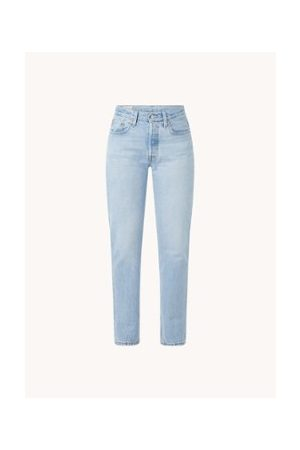 Levi's 501 Straight Fit Jeans mit hoher Taille in heller Waschung