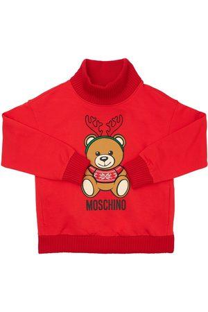 MOSCHINO Mädchen Strickpullover - Pullover Aus Baumwolle Mit Weihnachtsmotiv