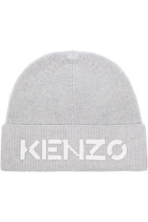 Kenzo Gerippte Mütze mit Logo-Stickerei
