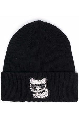 Karl Lagerfeld Damen Hüte - Choup Mütze mit Strass