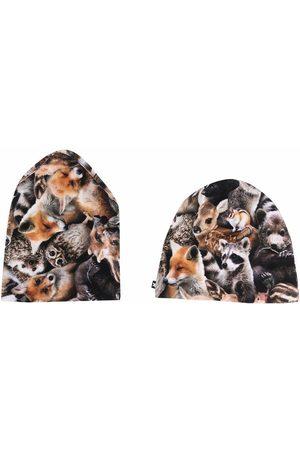 Molo Kids Mütze mit Animal-Print