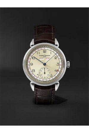 Vacheron Constantin Herren Uhren - Historiques Triple Calendar Hand-Wound 40mm Stainless Steel and Alligator Watch, Ref. No. 3110V/000A-B425 BU22