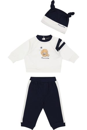 Monnalisa Baby Set aus Sweatshirt, Jogginghose und Mütze