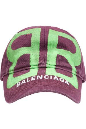 Balenciaga Herren Caps - Bb-besprühte Baumwollkappe