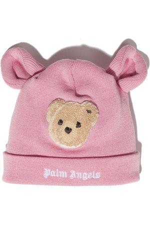 Palm Angels Kids Mädchen Hüte - PALM ANGELS BEAR BEANIE PINK BROWN