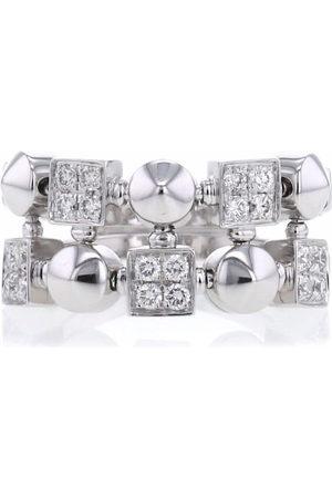 Bvlgari Pre-Owned 2000s 18kt Lucéa Weißgoldring mit Diamanten
