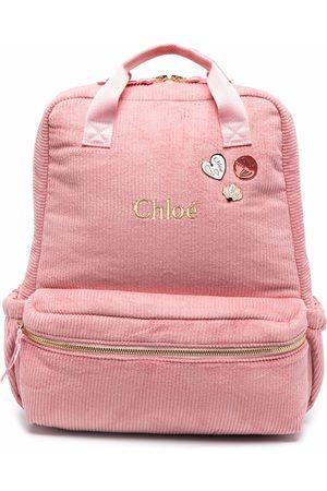 Chloé Kids Mädchen Rucksäcke - Cord-Rucksack mit Logo
