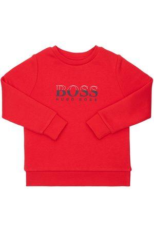 HUGO BOSS Sweatshirt Aus Baumwollmischung Mit Logodruck