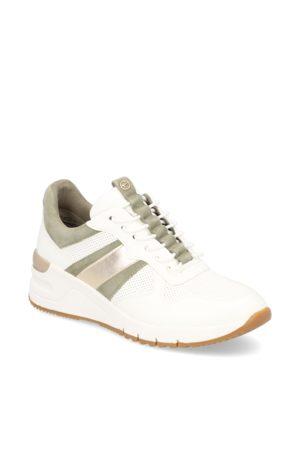 tamaris Lederkombination Sneaker - weiss