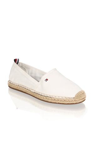 Tommy Hilfiger BASIC TOMMY FLAT ESPADRILLE - weiss