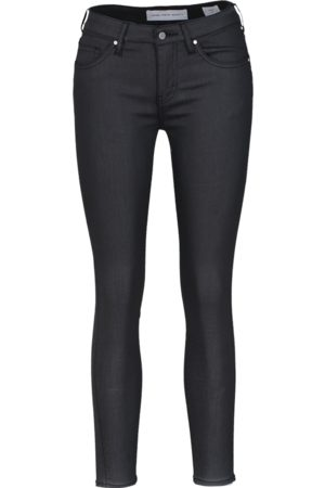 YOUNG POETS SOCIETY Damen Cropped - Jeans Ania low waist 86214 coated (black coated)