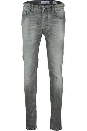 YOUNG POETS SOCIETY Herren Cropped - Herren Jeans Morten 99214 stone wash (mid grey)