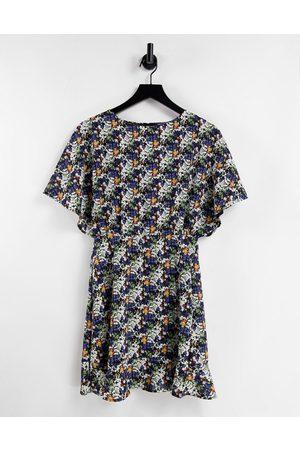Ax Paris – Kurzärmliges Kleid mit Blumenmuster