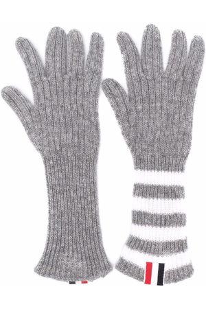 Thom Browne Jungen Handschuhe - Kaschmirhandschuhe mit RWB-Streifen
