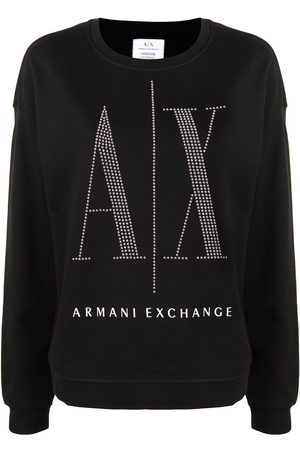 Armani Gestreiftes Sweatshirt mit Nieten-Logo