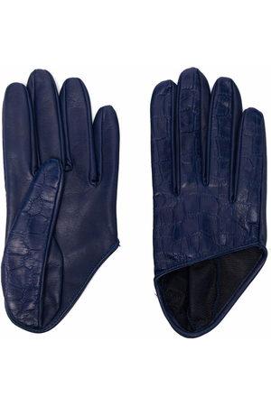 Manokhi Handschuhe mit Kroko-Effekt