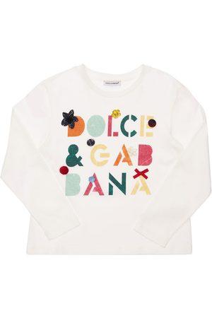 Dolce & Gabbana T-shirt Aus Baumwolle Mit Druck & Verzierung