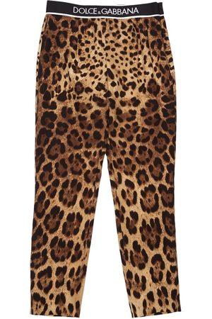 Dolce & Gabbana Seidenhose Mit Animalierdruck