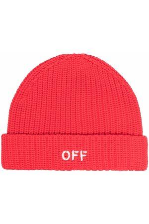 OFF-WHITE Gerippte Mütze mit Logo-Print