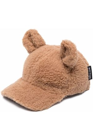 Palm Angels Kids PALM ANGELS BEAR FUNNY CAP BROWN BROWN