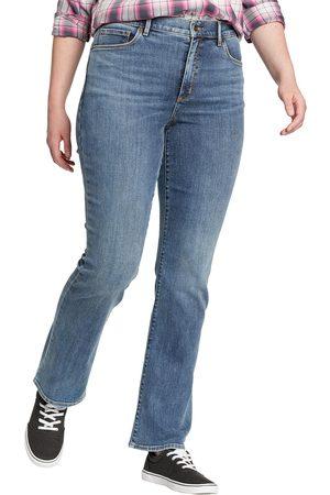 Eddie Bauer Damen High Waisted - Voyager Jeans - High Rise - Bootcut Damen Gr. 4