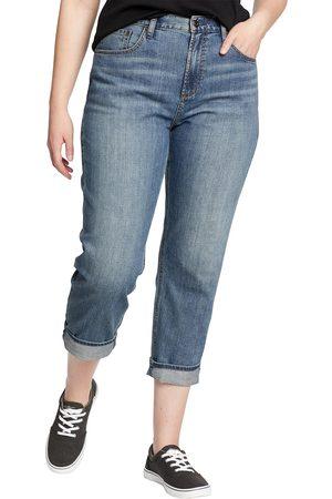 Eddie Bauer Damen Baggy & Boyfriend - Boyfriend Jeans - High Rise Damen Gr. 4