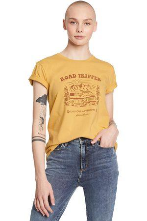 Eddie Bauer Damen T-Shirts - Graphic - Shirt - Road Tripper Damen Gr. XS