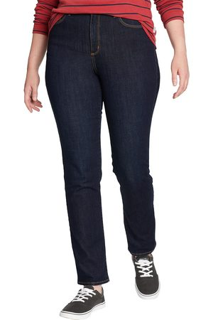 Eddie Bauer Damen Slim - Voyager Jeans - Slim Leg - High Rise - Slightly Curvy Damen Gr. 4