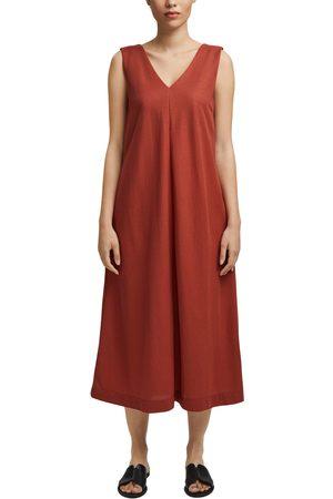 Esprit Damen Freizeitkleider - Jerseykleid, mit V-Ausschnitt vorne und hinten