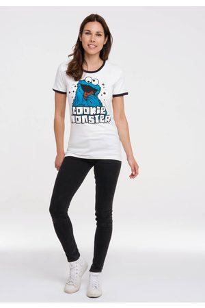 LOGOSHIRT Damen Shirts - T-Shirt »Krümelmonster«, mit lizenziertem Originaldesign