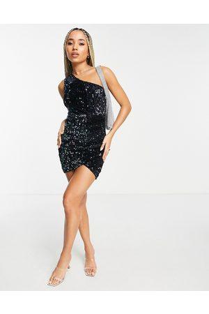 AX Paris – Bodycon-Kleid in mit One-Shoulder-Träger und Pailletten