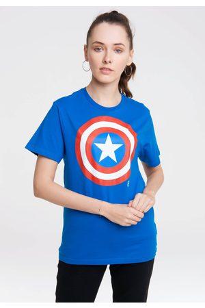 LOGOSHIRT Damen Shirts - T-Shirt »Marvel Comics«, mit Captain America-Logo